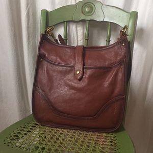Frye Madison shoulder bag in cognac NWT